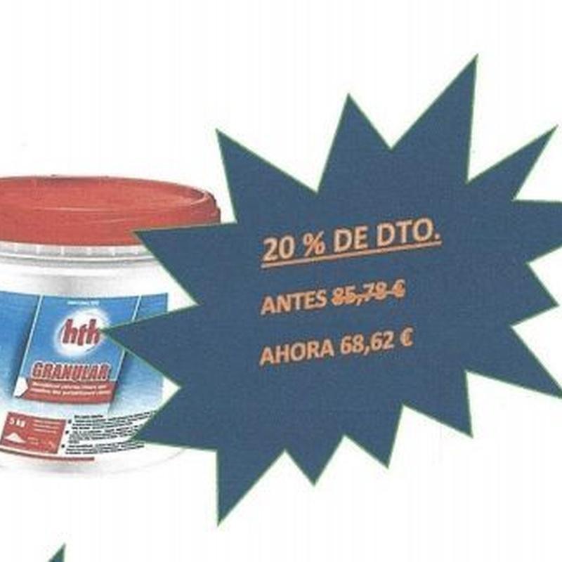 HTH Granulado de 5 Kg.: Productos y servicios de Piscinas Castilla - Construcción y Rehabilitación