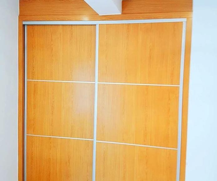 Instalación armario empotrado con puertas correderas