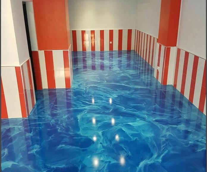 Diseño de interiores suelos decorativos.