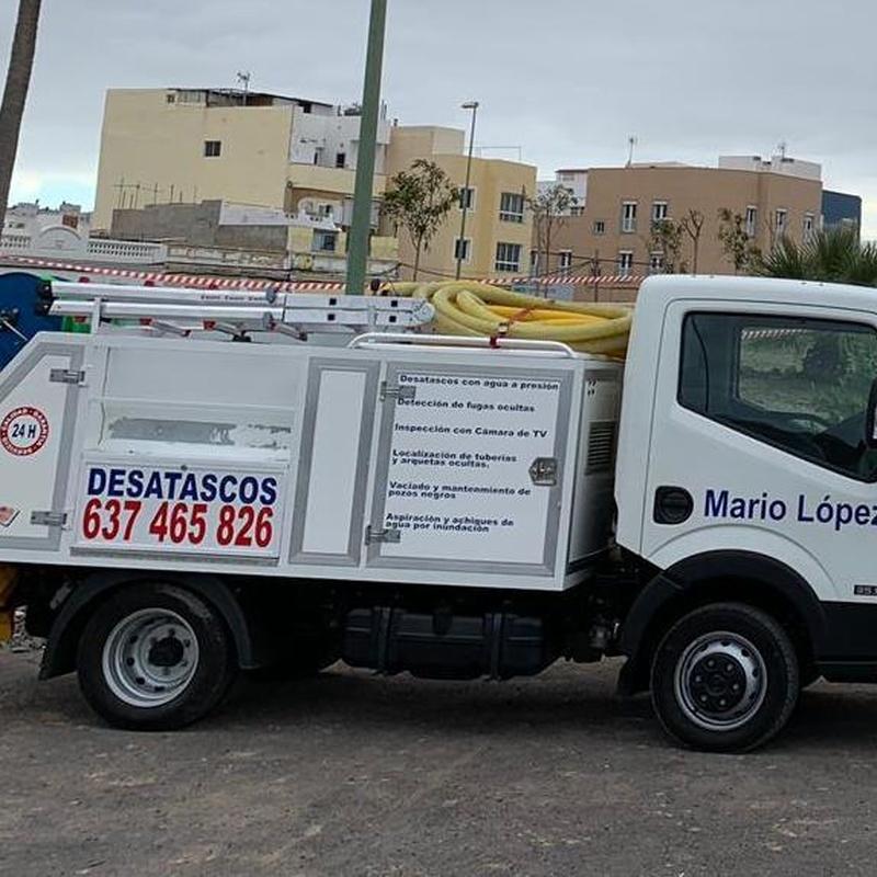 Desatascos urgentes en Las Palmas Mario LópezAspiración y achiques de agua por inundación en Las Palmas