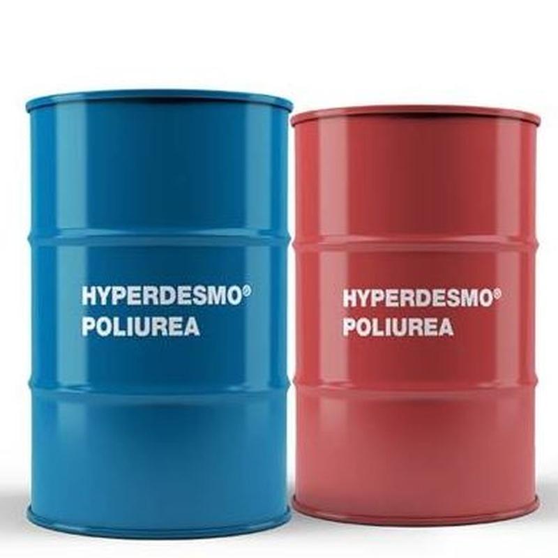 HYPERDESMO®-POLIUREA-HC en almacén de pinturas en ciudad lineal.
