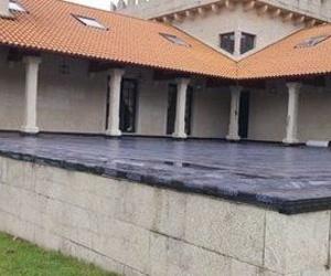 Instalación con lámina asfáltica SBS-LBM en Bodegas Lagar de la Condesa, Caldas de Reig, Pontevedra