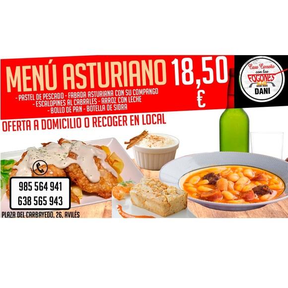 Menú asturiano