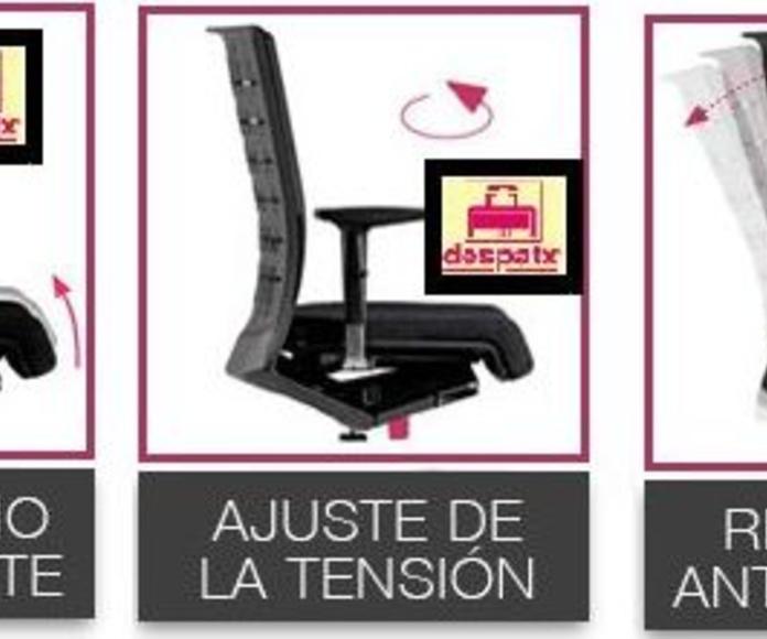 Silla ergonómica NOVA de gran comodidad y confort.Caracteristicas técnicas.