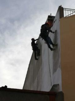 Pintura en fachadas vertical