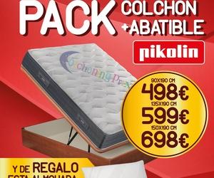 EV Colchonerías: oferta Pack colchón Elan y canapé de Madera Pikolin con regalo de almohada