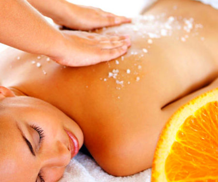 Exfoliant corporal amb taronja