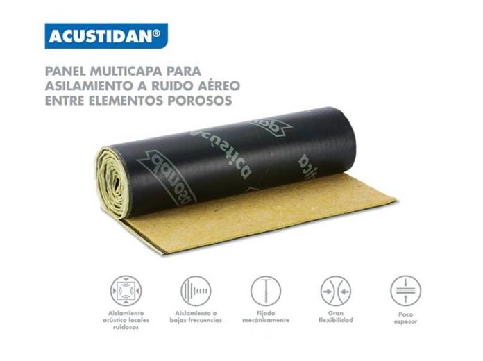 Acustidan : Materiales - Distribuciones de AISLAMIENTOS LORSAN