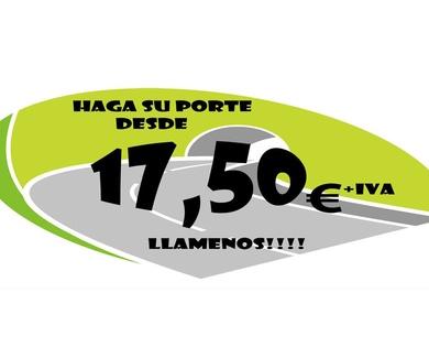 Su porte desde 17,50€ + IVA