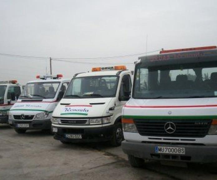 Flota de vehículos para asistencia en carretera