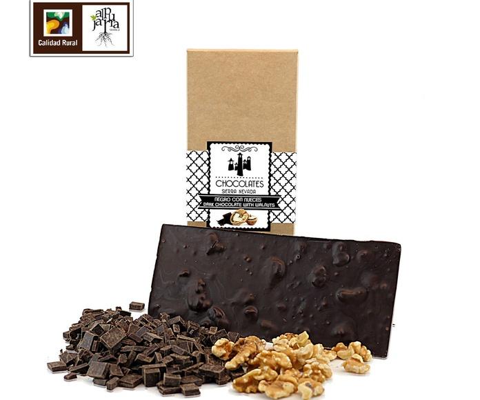 chocolate negro con nueces