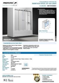 Mampara de baño Profiltek serie Steel modelo ST-125 Light ficha resumen