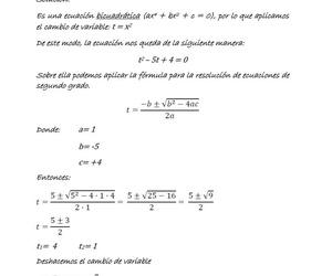 Ecuación bicuadrática