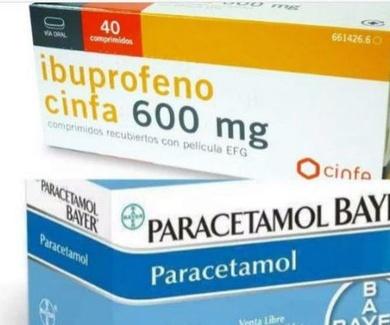 El ibuprofeno de 600 mg y el paracetamol de 1 gr habrá que comprarlos con receta.