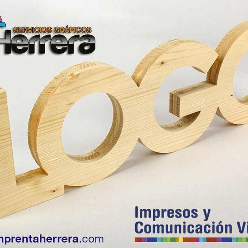 LETRA&LOGO3D Madera