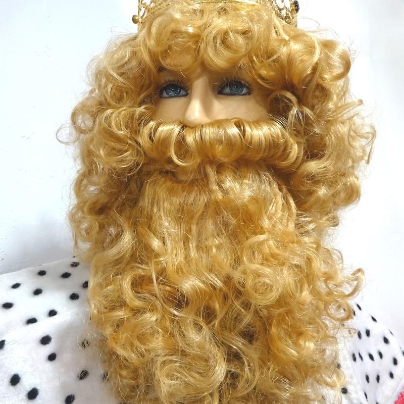 Peluca y barba rey mago Gaspar