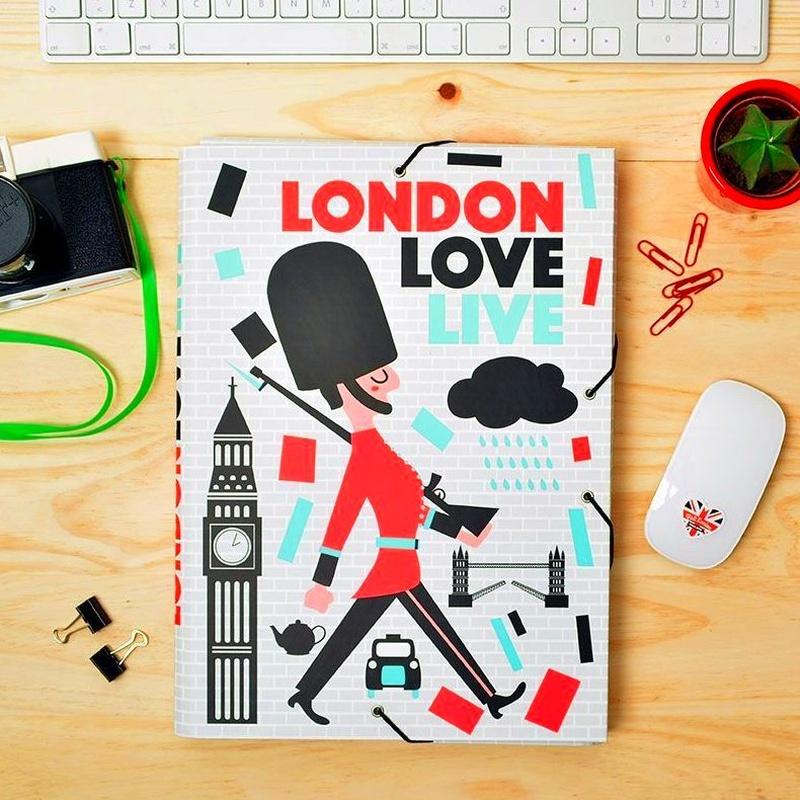 Carpeta Gomas con solapa Colores de Londres