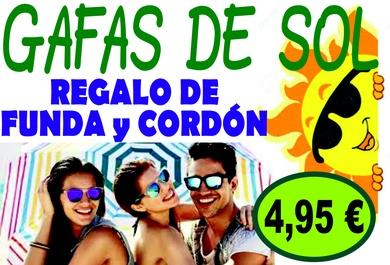 GAFAS DE SOL, regalo funda y cordón 4,95 €