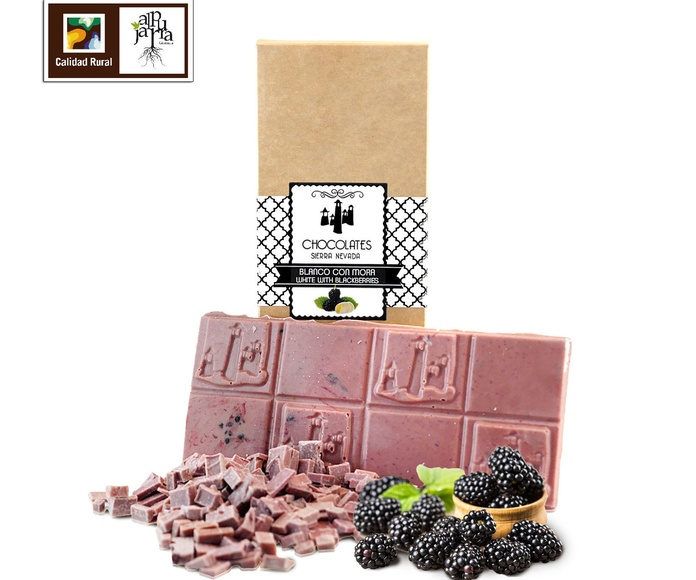 chocolate blanco con moras