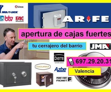 Apertura cajas fuertes Valencia