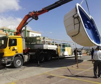 Grúas y maquinaria para obras públicas: Servicios de Transportes Juel, S.L.