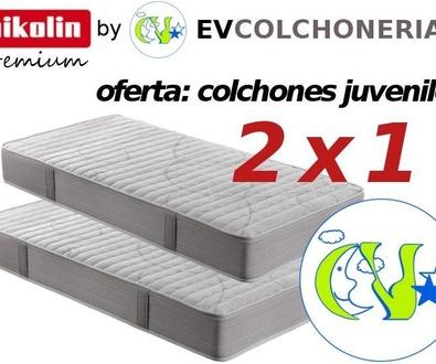 Oferta 2x1 colchones Pikolin: para dormitorios infantiles y juveniles