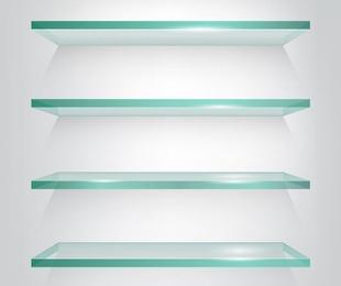 Muebles auxiliares de cristal