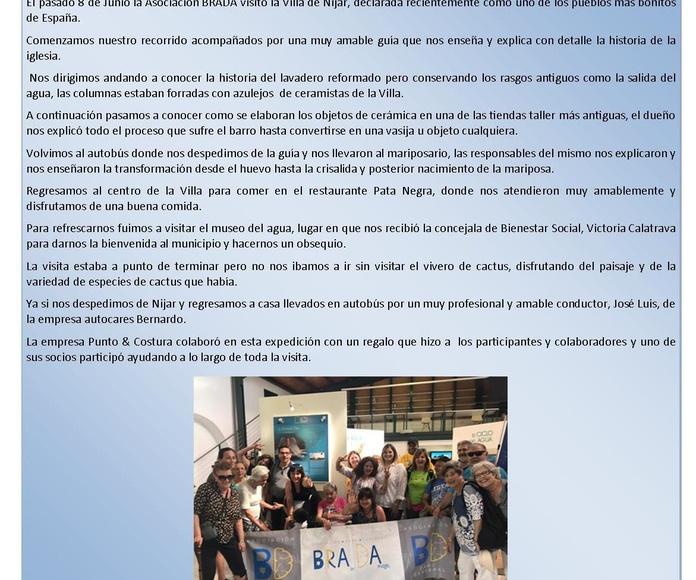 PUNTO & COSTURA COLABORA CON LA ASOCIACION DAÑO CEREBRAL BRADA