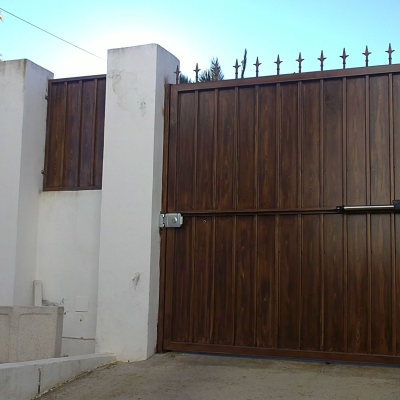 Puerta Batiente una hoja con motor