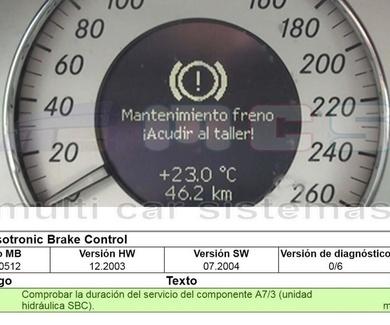 Reparación fallo sistema SBC (Bosch) Mercedes-Benz