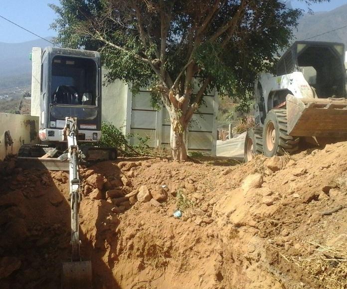 Desmonte para aljibe en Arafo
