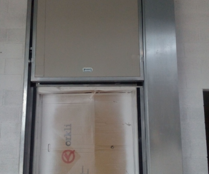Puerta guillotina cortafuegos 1 hoja fusible térmico Barcelona