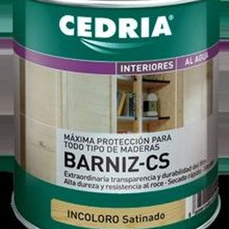 Barniz CS CEDRIA en almacén de pinturas en ciudad lineal.