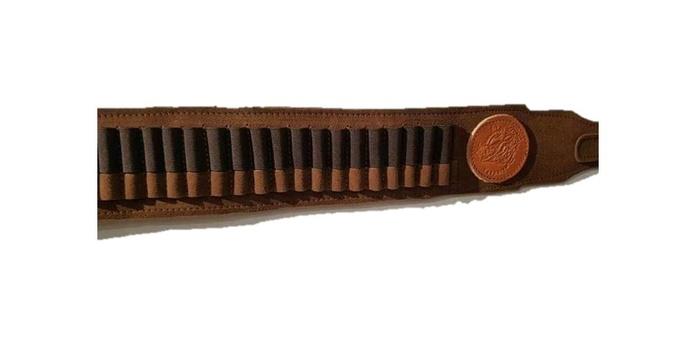 Canana porta balas en piel estezado, tubos elásticos: Tienda online de Artículos de Caza