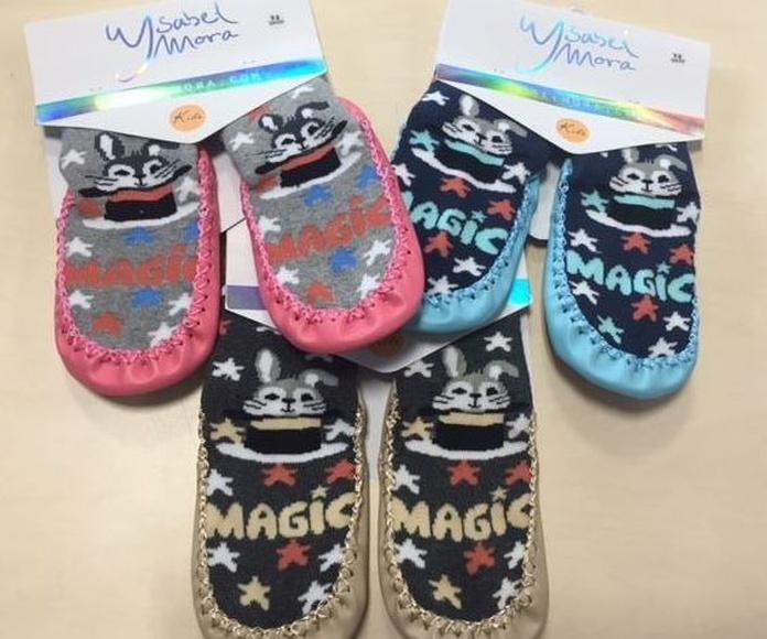 Calcetines con suela/Zapatillas