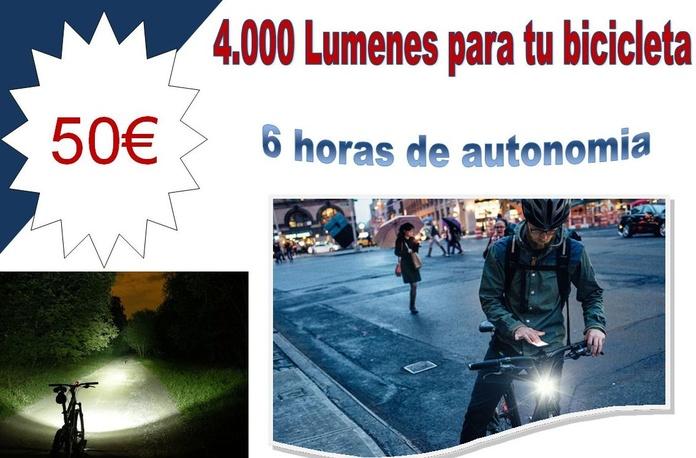 Linterna bicicleta 4000lm: Productos de Centro Led Almería