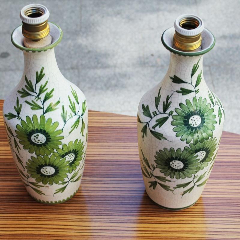 Pareja de lámparas de cerámica años 70: Artículos  de Ruzafa Vintage