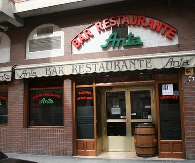 Bar restaurante Anta en Madrid