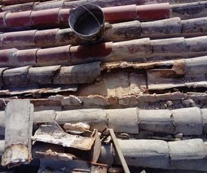 estado del tejado antes de iniciarse la reparacion