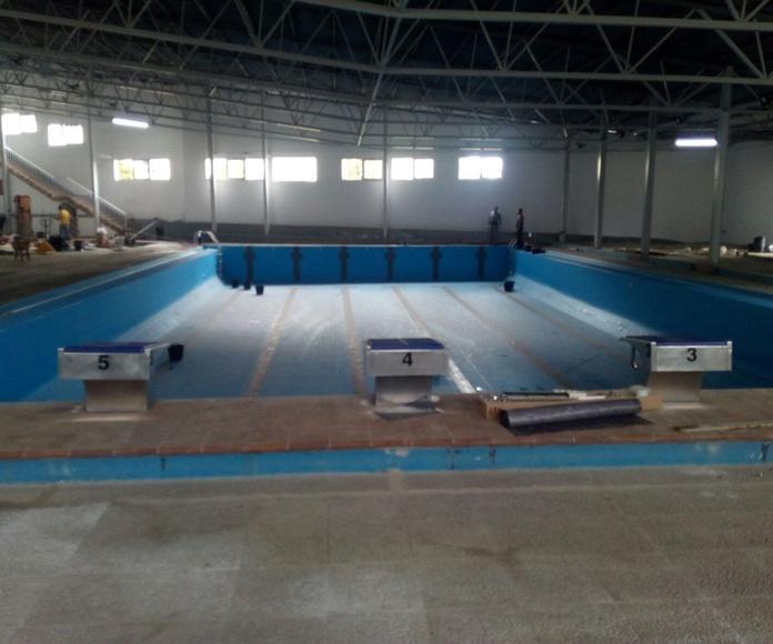 Impermeabilizacion de piscina olimpica con lamina pvc 1,5 alkorplan