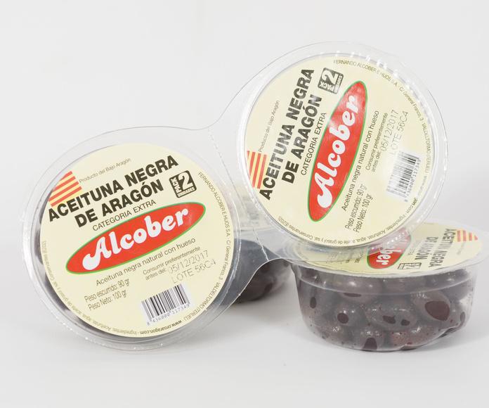 Aceituna Negra Natural Extra: Pack 100g