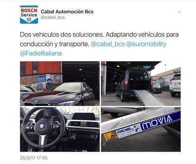 Cabal Automoción Bosch Car Service. Líder en adaptación de vehículos en Asturias