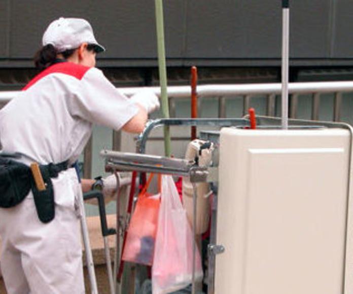 Limpieza de acceso a plantas: Servicios de Niemco, S. L.
