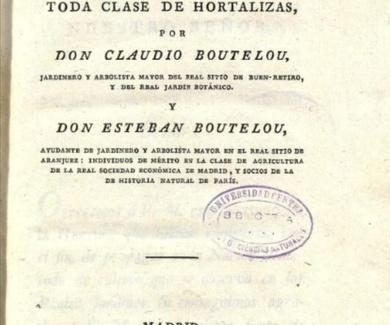 Tratado de la Huerta ó método de cultivar toda clase de hortalizas de 1813