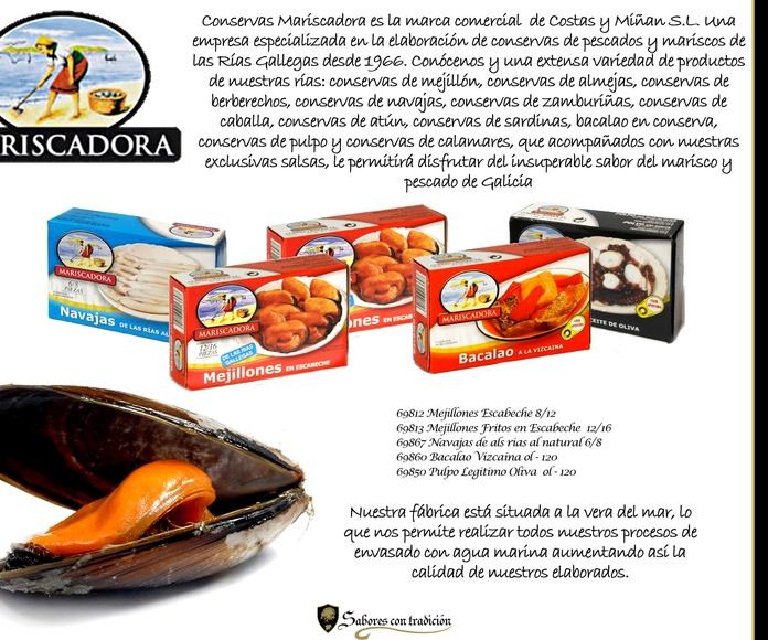 """Conservas """" Mariscadora """": Productos de Sabores con tradición"""