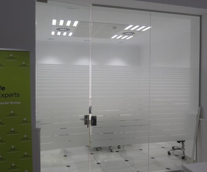 Puertas de Cristal oficinas. Cristalera Madrileña