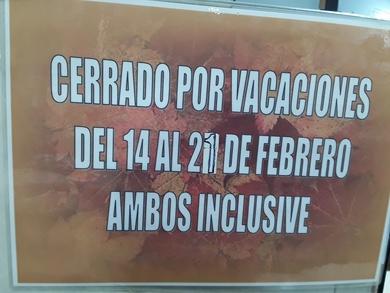 Vacaciones de Febrero..