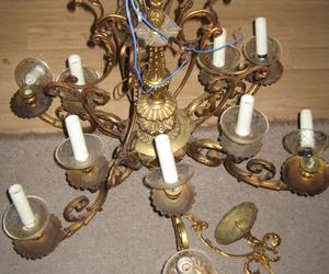 Lámpara de metal 12 luces (Instalación)