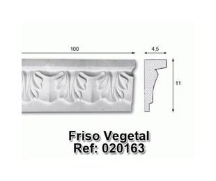 Moldura friso vegetal