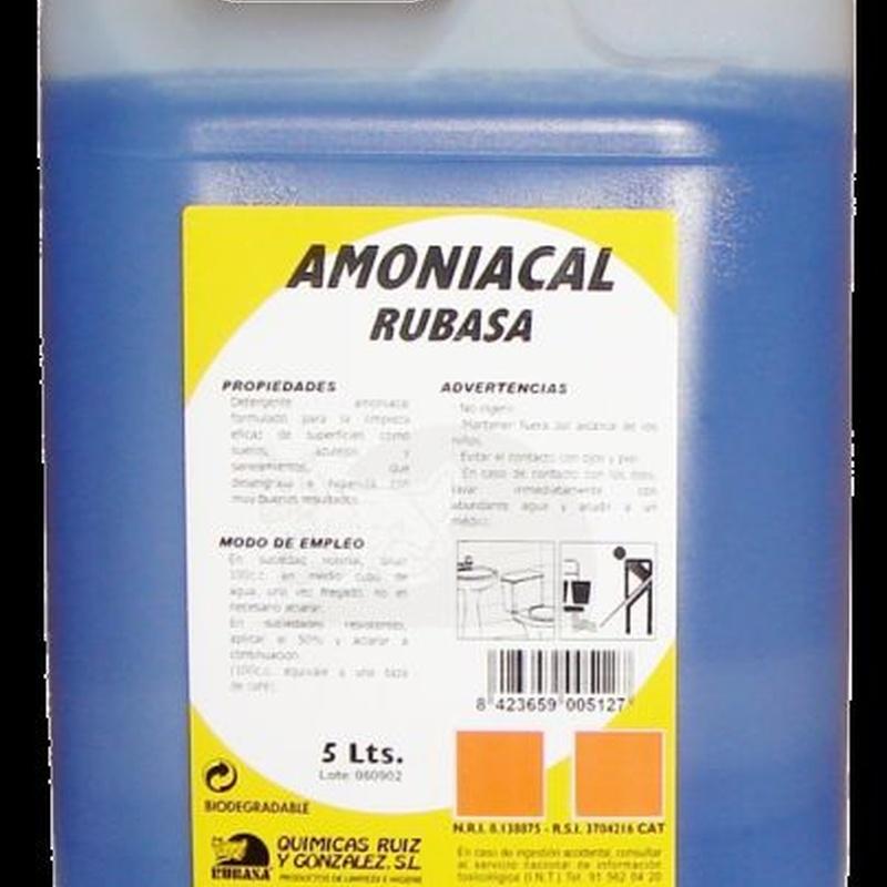 Detergente Amoniacal 5l. : SERVICIOS  Y PRODUCTOS de Neteges Louzado, S.L.